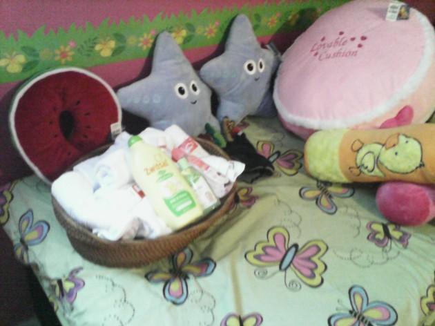 Fasilitas Baby Spa, berupa alat dan sarana pendukung pemijatan,