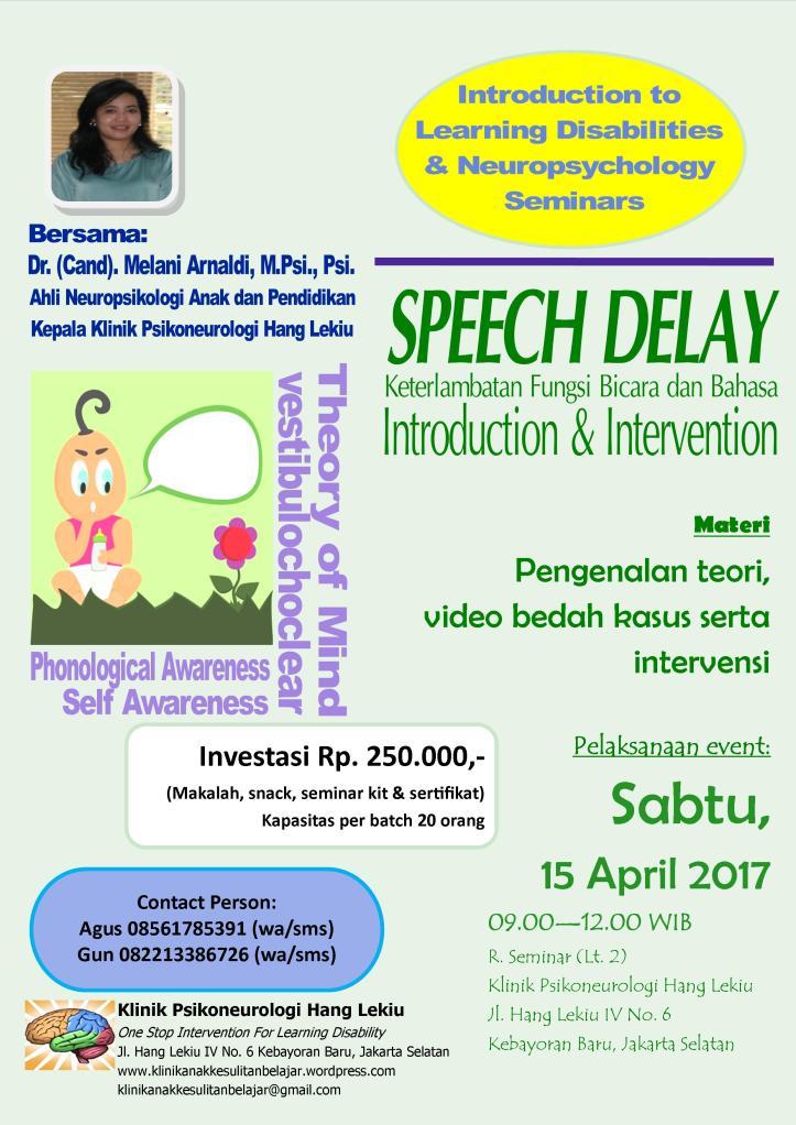 Poster Speech Delay