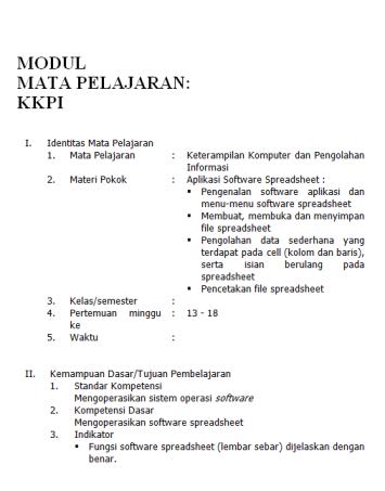 MODUL PEMBELAJARAN PENGOLAH KATA ( MS.WORD )