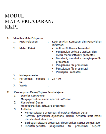 MODUL PEMBELAJARAN PRESENTASI ( MS. POWER POINT )
